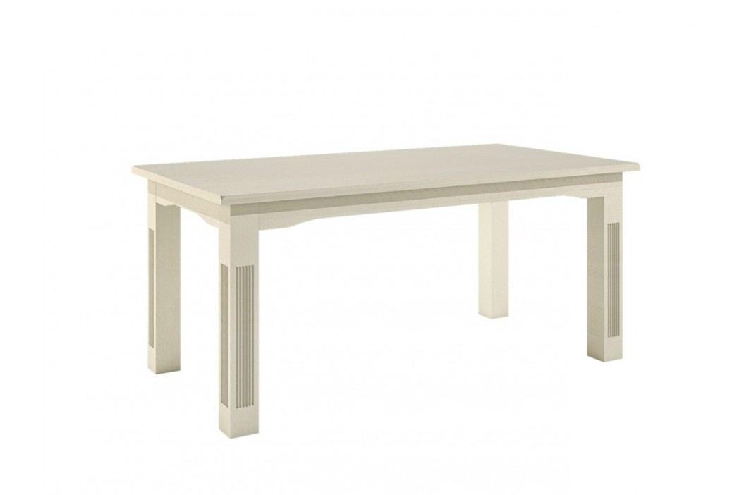 Esstisch 140160180 cm feste Platte oder Vorkopfauszüge Pinie massiv, 140 x 95 + 1x Auszug 50 cm Pinie weiß gekälkt Esstische