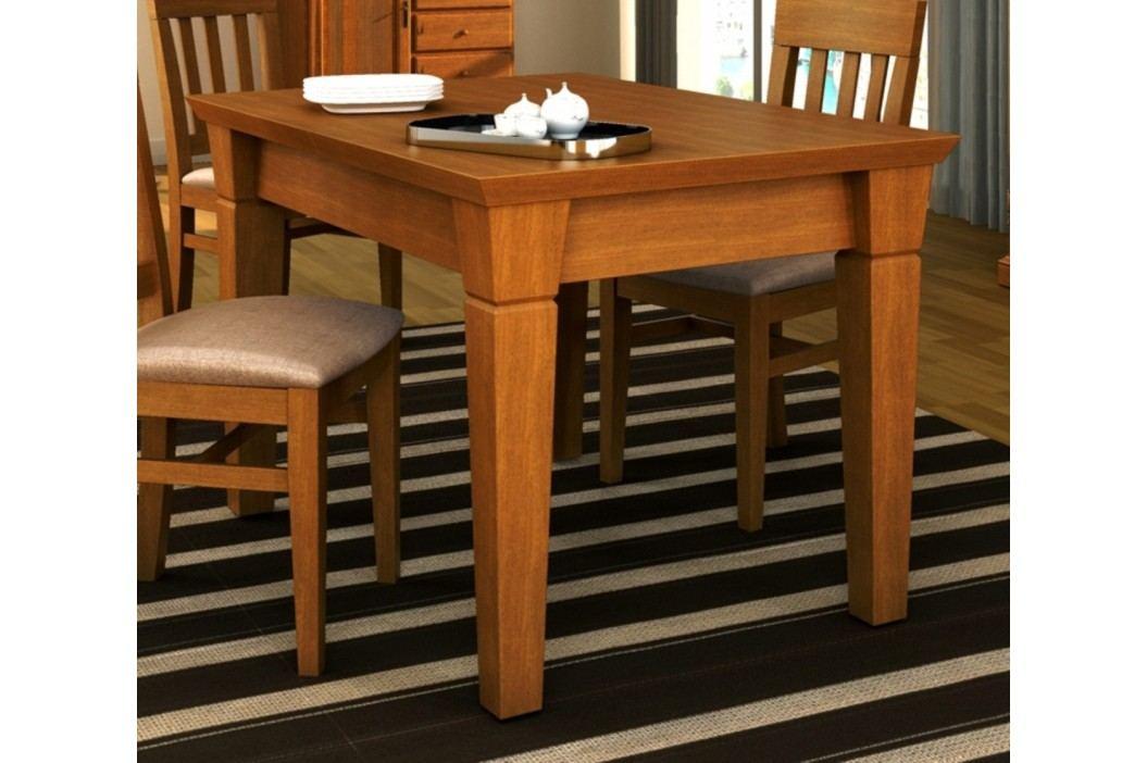 Esstisch mit fester Platte oder Klappeinlage Pinie massiv, feste Platte 120 x 80 cm Pinie havanna Esstische