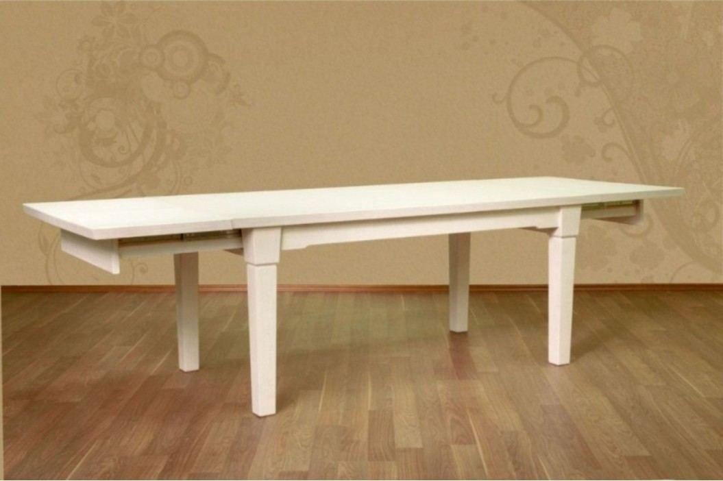 Esstisch 180 x 95 mit 2 Vorkopfauszügen Pinie massiv, Pinie weiß gekälkt Esstische