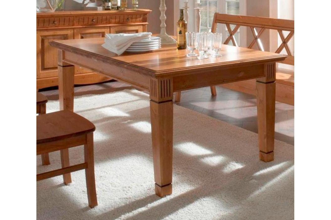 Esstisch Tisch Florenz 140 - 180 x 95 cm, 140 cm feste Platte mit Klappeinlage Esstische