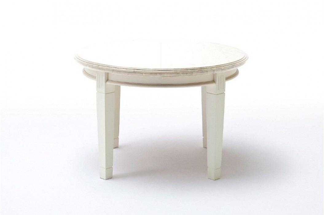Ess-Tisch Padua rund Ø 120 cm ausziehbar - 159 cm, panna ohne Auszug Esstische