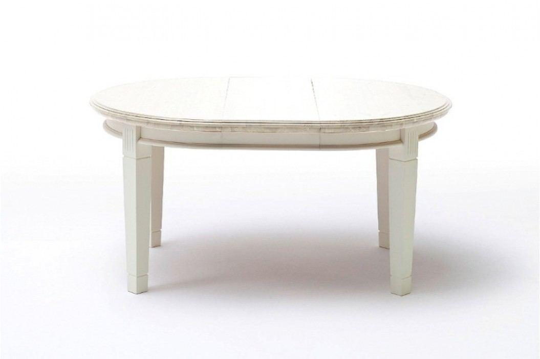 Ess-Tisch Padua rund Ø 120 cm ausziehbar - 159 cm, panna mit Einlegeplatte und Zarge Esstische