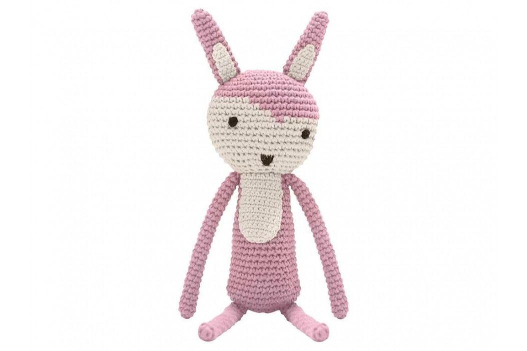 SEBRA® Häkel-Tier Kaninchen Altrosa Höhe 34cm 3001204 Spielzeug