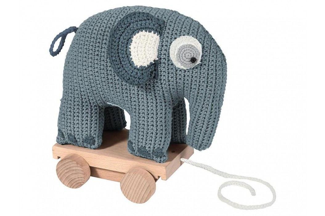 SEBRA® Häkel-Nachziehtier Elefant Wolkenblau 3001105 Babyspielzeug