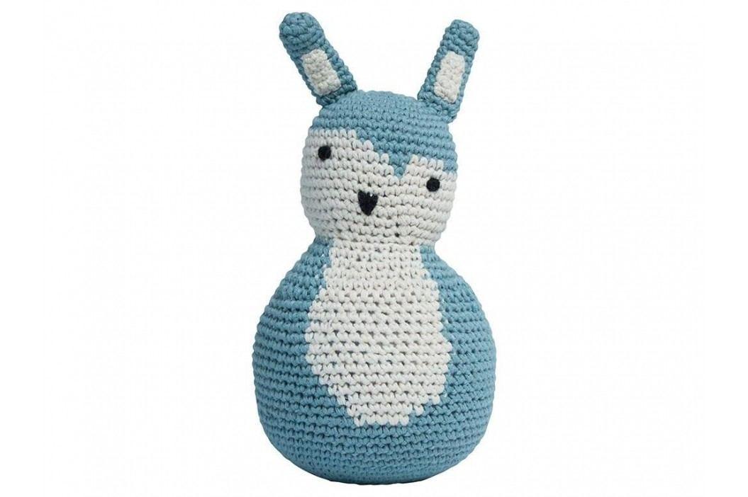 SEBRA® Häkel-Stehaufmännchen Kaninchen Wolkenblau 3012102 Babyspielzeug