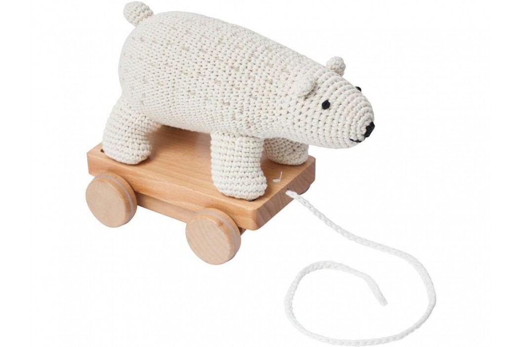 SEBRA® Häkel-Nachziehtier Eisbär 3001211 Babyspielzeug