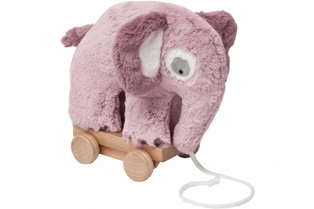 SEBRA® Plüsch-Nachziehtier Elefant Altrosa 3001210 Babyspielzeug