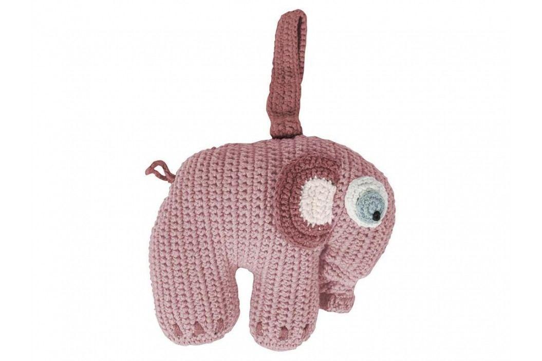 SEBRA® Häkel-Spieluhr Elefant Altrosa 3013202 Babyspielzeug