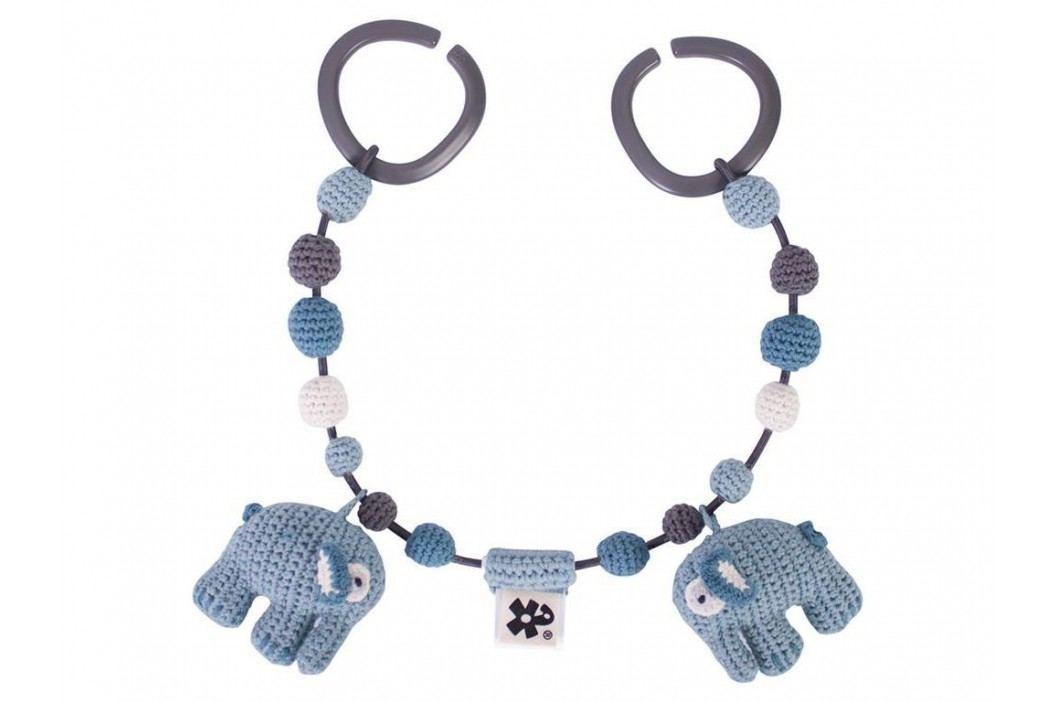 SEBRA® Häkel-Kinderwagenkette Elefant Wolkenblau 4006101 Kinderwagenspielzeug