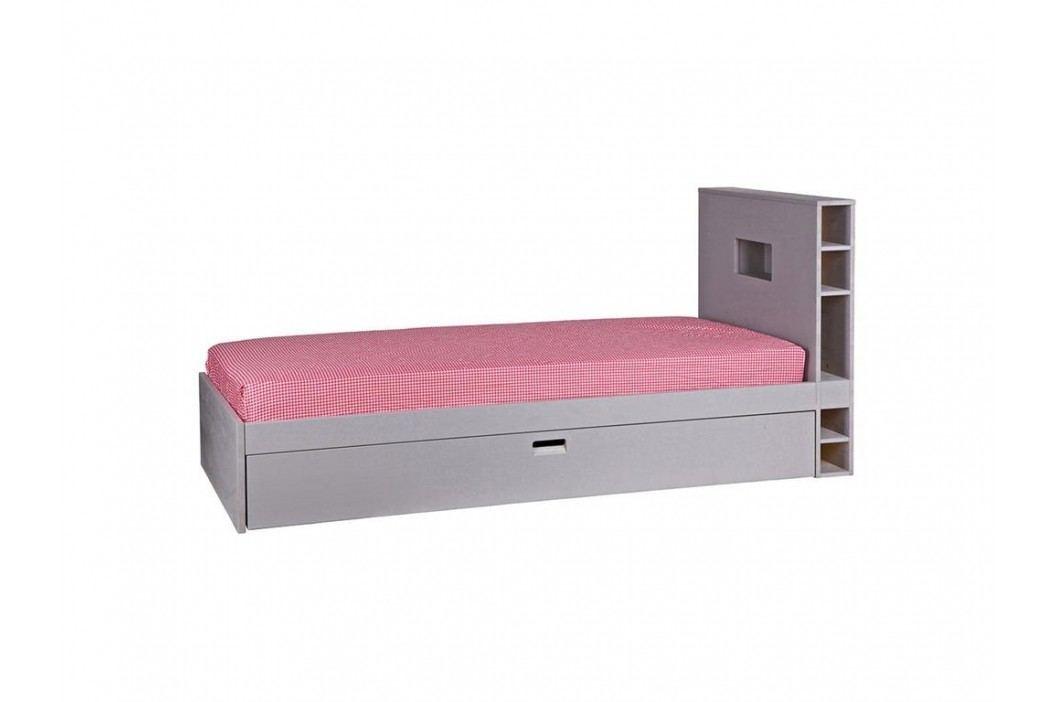 VTWONEN Store Bett Grau mit Gästebett und Regal 90x200cm vtwonen 377033-GOG Kinderbetten