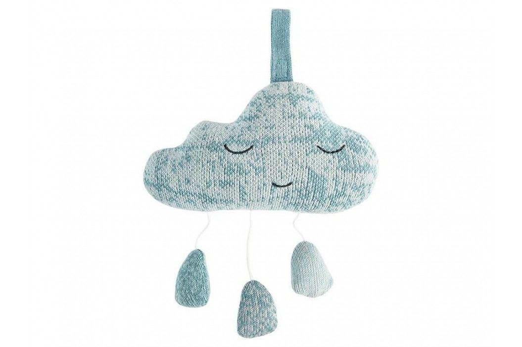 SEBRA® Strick-Mobile Spieluhr Wolke Wolkenblau 3013103 Babyspielzeug