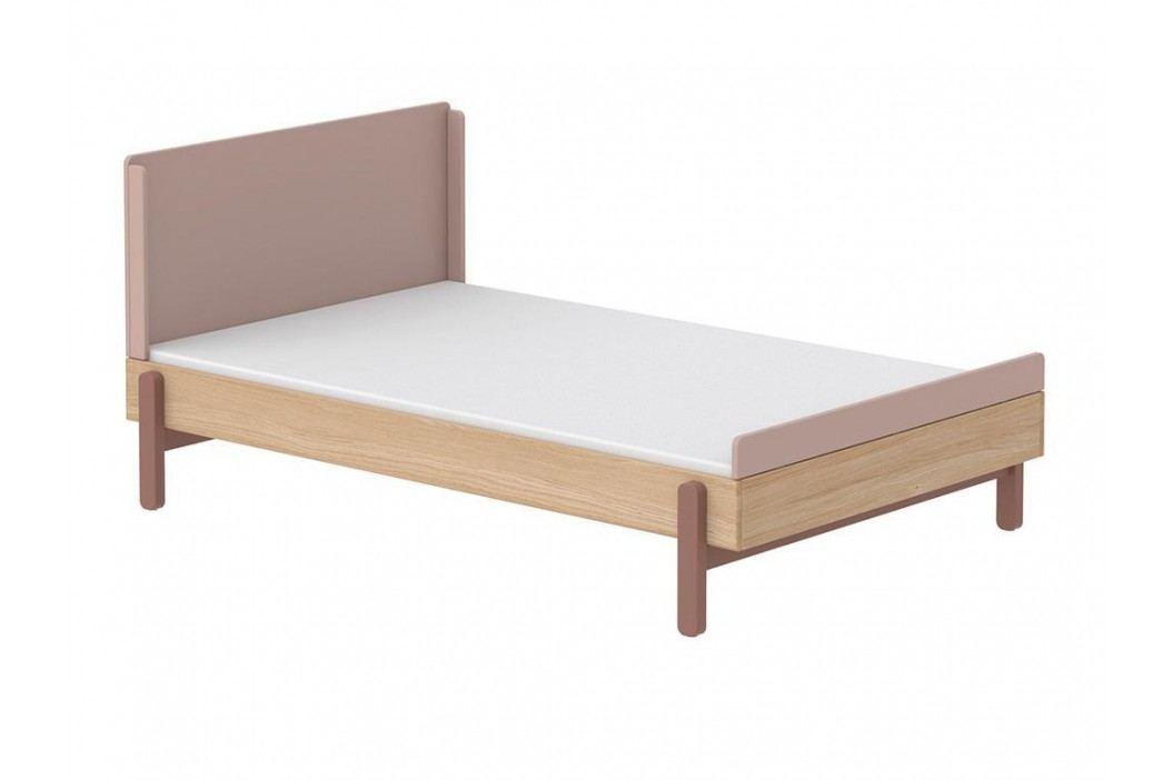 FLEXA Popsicle Bett Niedrig mit Kopf- und Fußteil Cherry 140x200cm 80-24202-33 Kinderbetten
