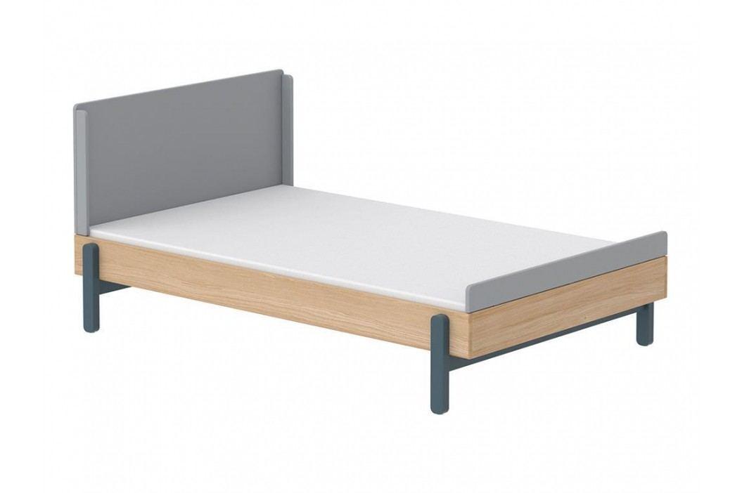FLEXA Popsicle Bett Niedrig mit Kopf- und Fußteil Blueberry 140x200cm 80-24202-32 Kinderbetten