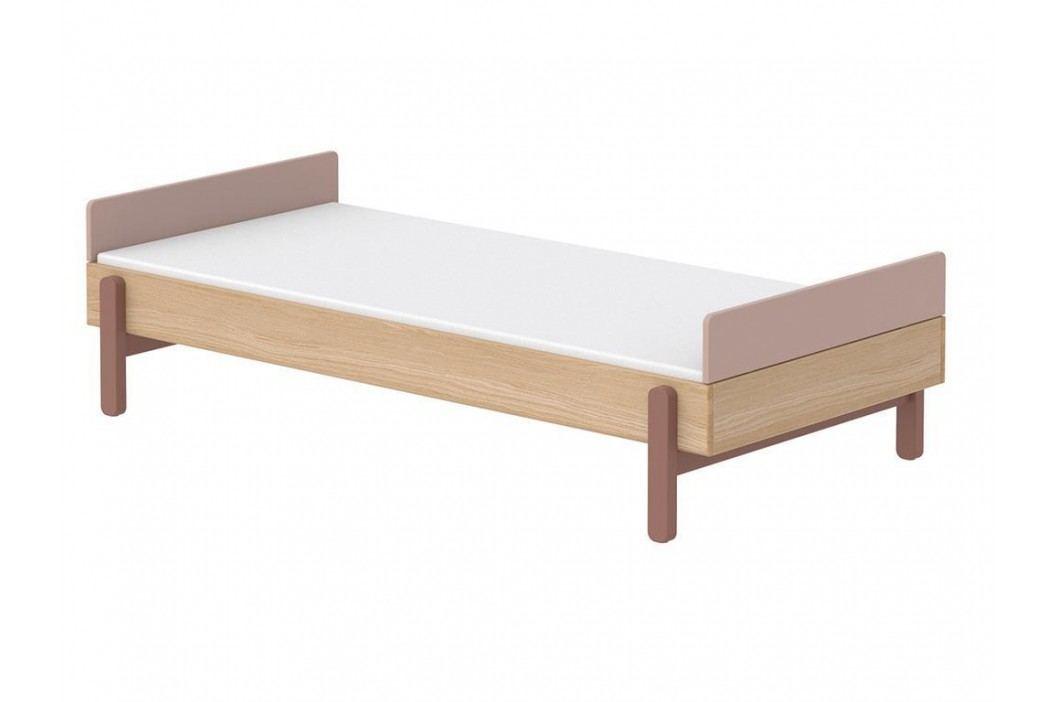 FLEXA Popsicle Bett Niedrig mit Kopf- und Fußteil Cherry 90x200cm 80-24103-33 Kinderbetten