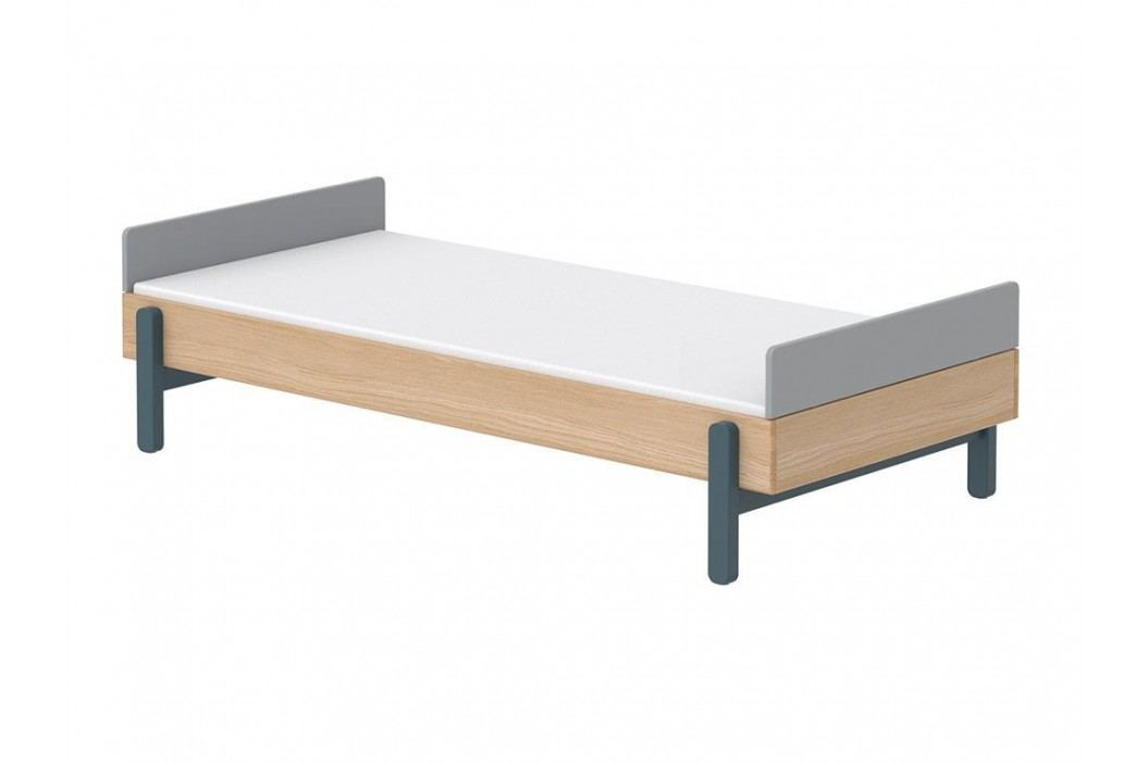 FLEXA Popsicle Bett Niedrig mit Kopf- und Fußteil Blueberry 90x200cm 80-24103-32 Kinderbetten