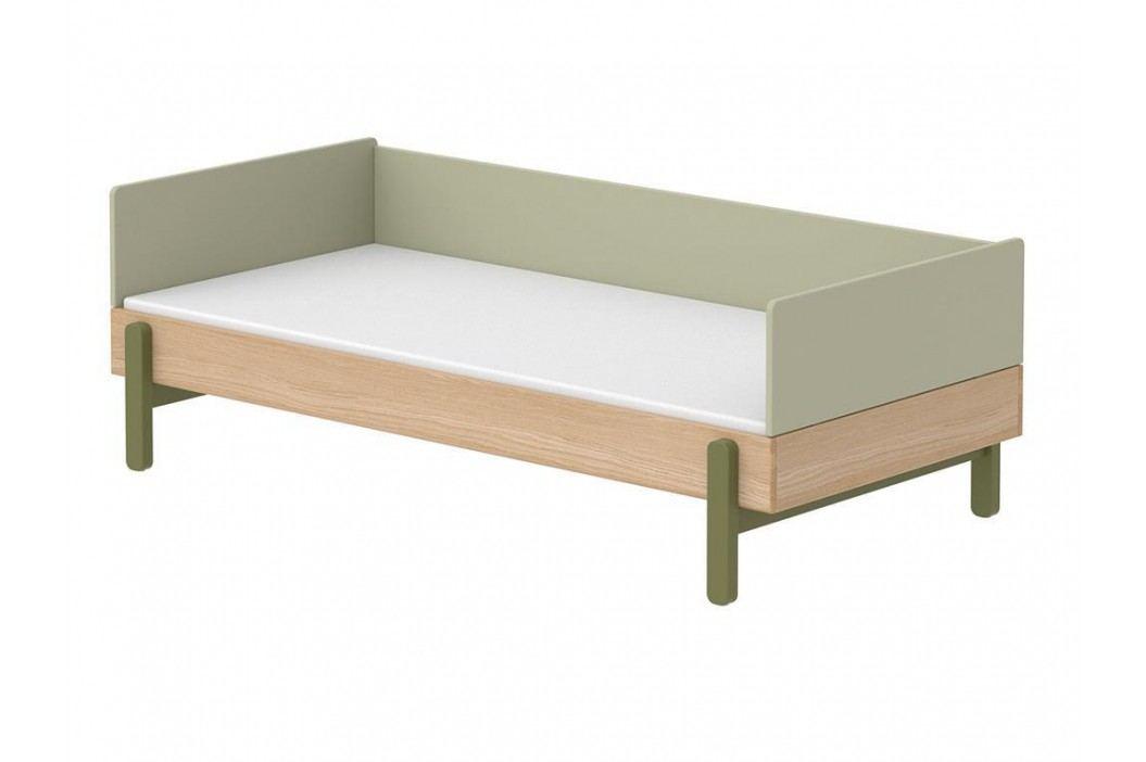 FLEXA Popsicle Bett Niedrig mit Rückenleiste und Kopf- und Fußteil Kiwi 90x200cm 80-24102-31 Kinderbetten