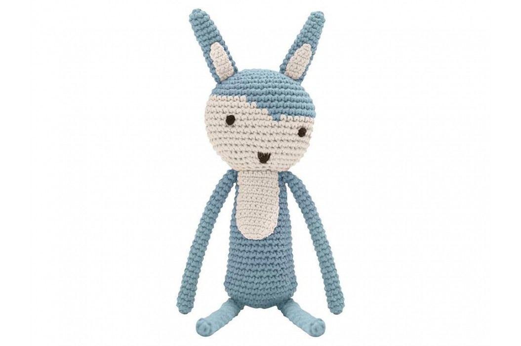 SEBRA® Häkel-Tier Kaninchen Wolkenblau Höhe 34cm 3001104 Spielzeug
