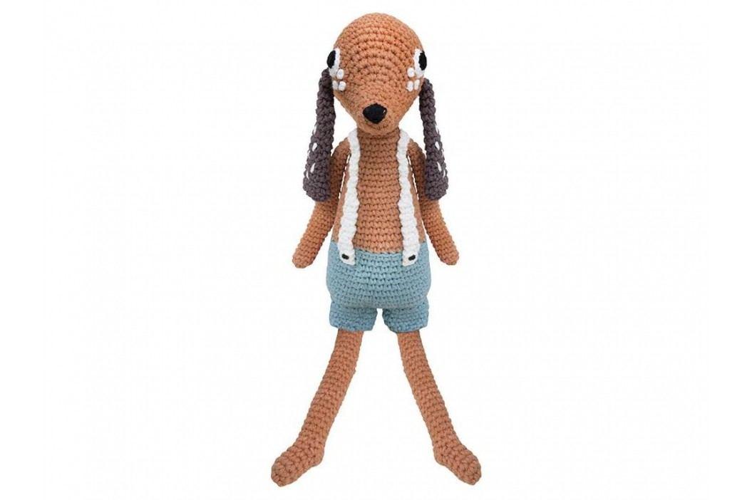 SEBRA® Häkel-Tier Hund Bob Höhe 42cm 3001101 Spielzeug