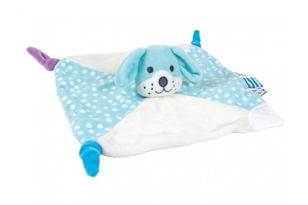 JABADABADO Schmusetuch Hund Hellblau 24x24cm N629 Spielzeug