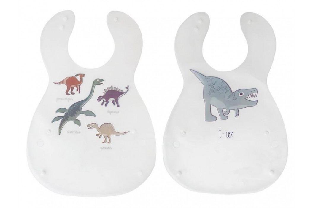 SEBRA® Kunsstoff Lätzchen Dino 2er-Set 7005108 Lätzchen