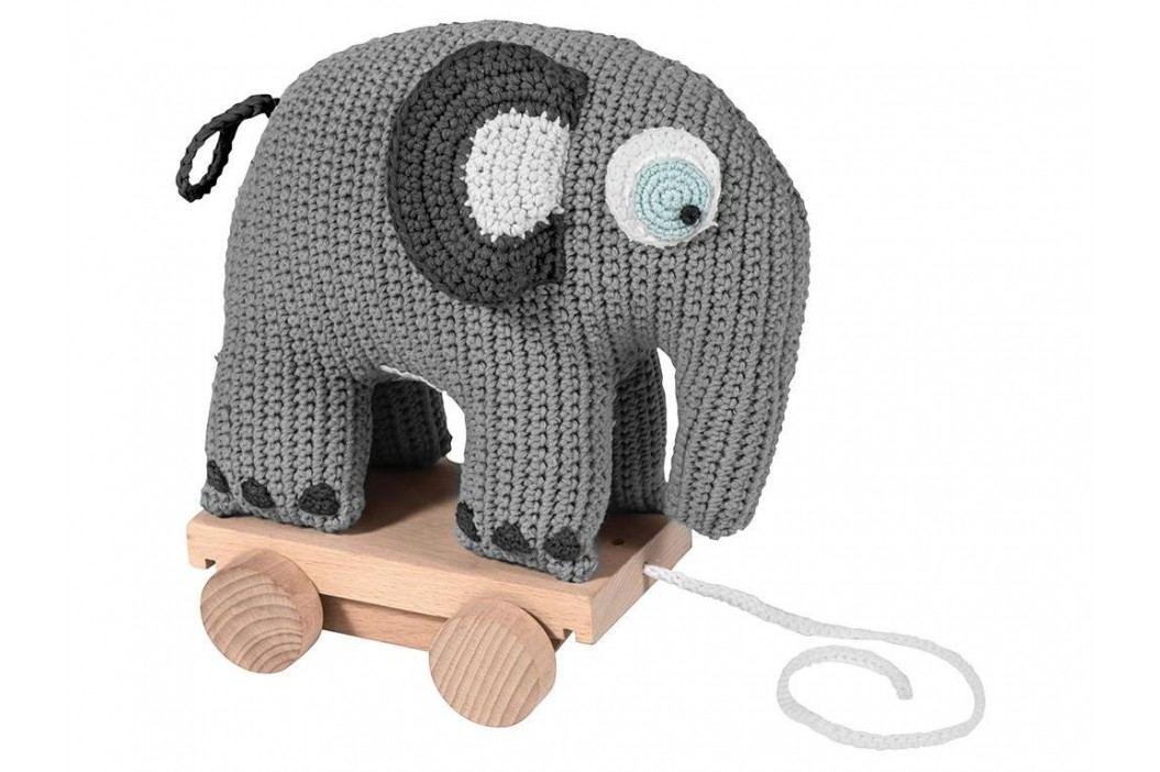 SEBRA® Häkel-Nachziehtier Elefant Grau 3011302 Babyspielzeug