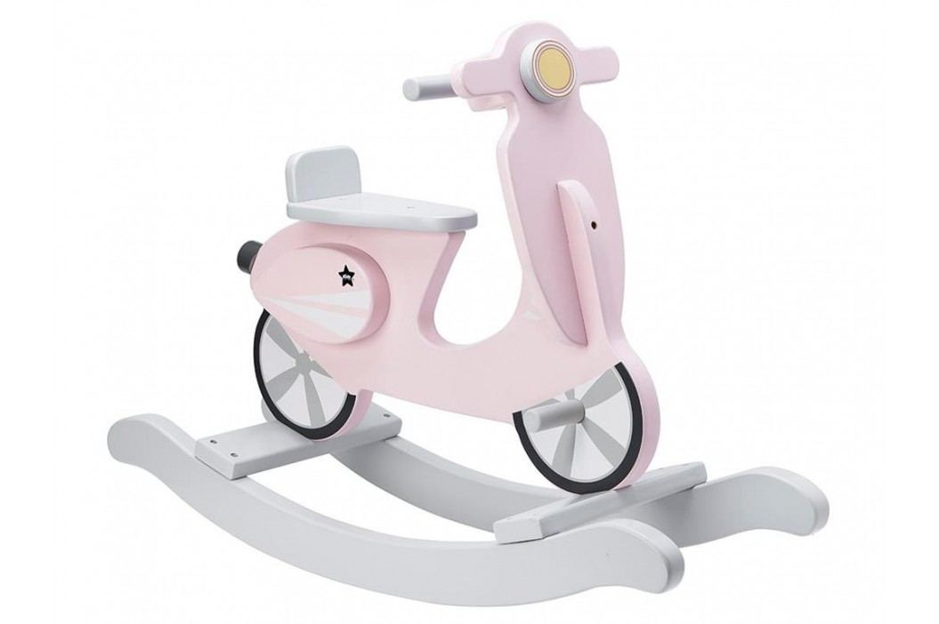 KIDS CONCEPT Schaukelroller Schaukel Scooter Rosa Weiß 1000159 Spielzeug