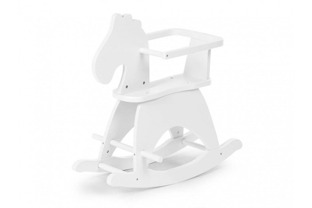 CHILDHOME Schaukelpferd Weiß mit Bügel CWRHW Spielzeug