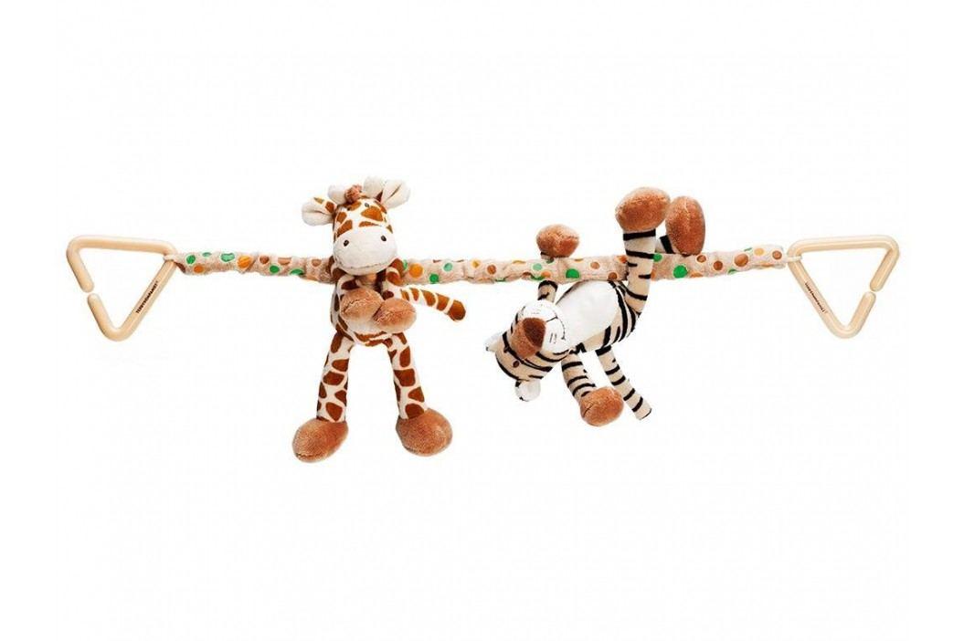 TEDDYKOMPANIET® Diinglisar Wild Kinderwagenkette Giraffe & Tiger 452062 Kinderwagenspielzeug