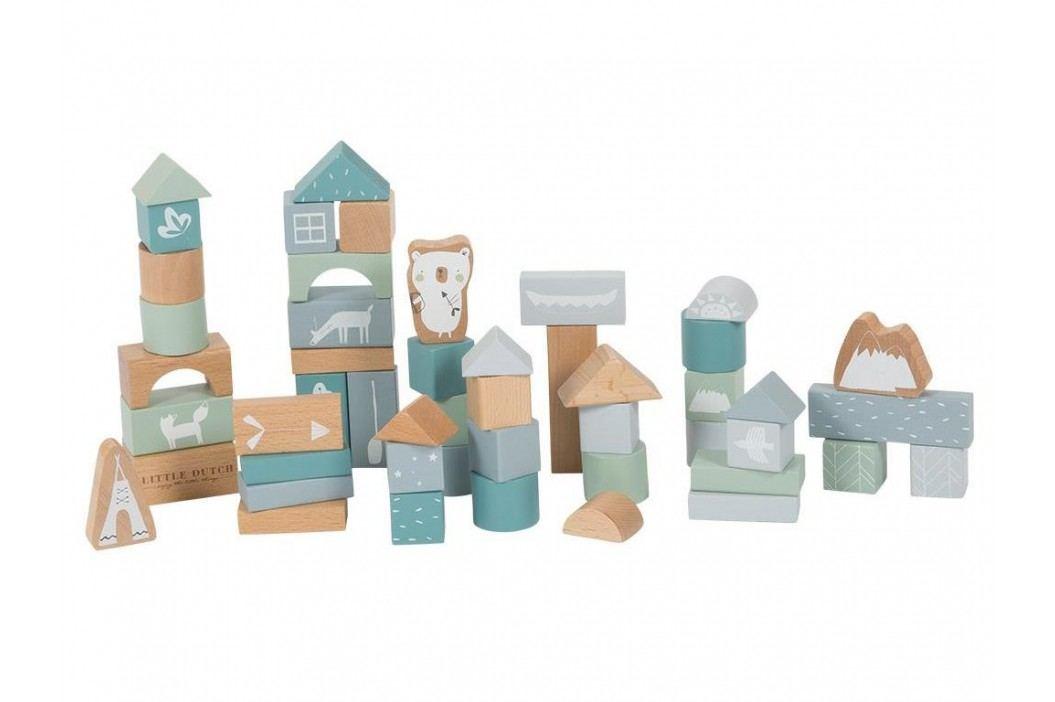 LITTLE DUTCH Adventure 50 Holzbausteine inkl. Box Blue 4413 Holzspielzeug