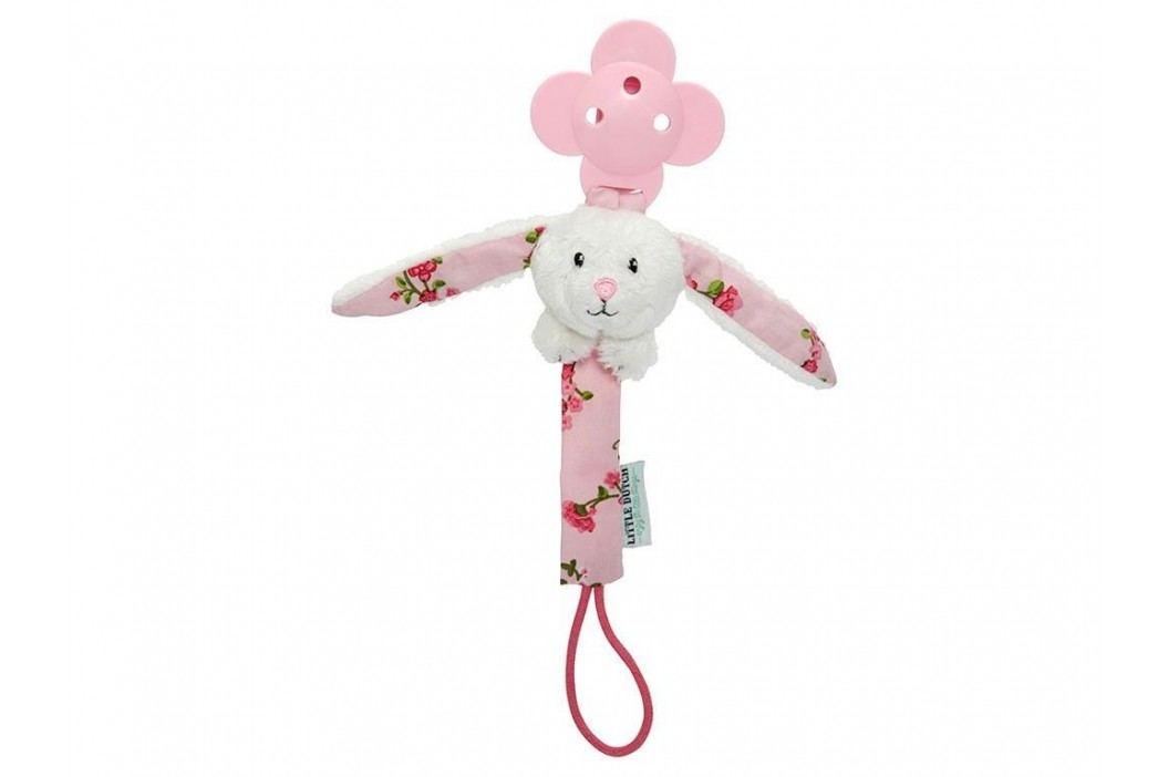 LITTLE DUTCH Pink Blossom Schnullerkette Hase 4320 Babyspielzeug