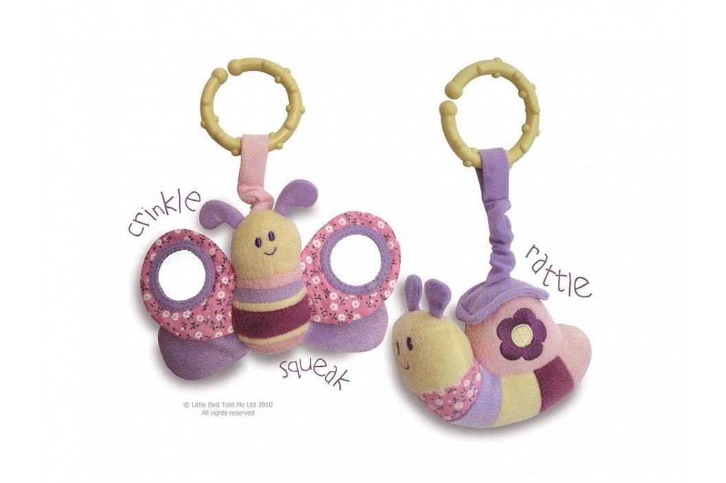LITTLE BIRD TOLD ME , Activity Spieltier 2er-Set Schmetterling & Schnecke LB3021 Babyspielzeug