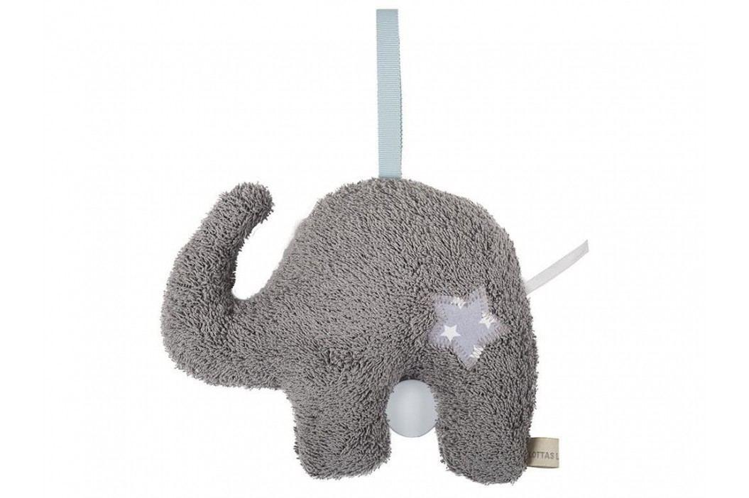 LOTTAS LABLE® Frottee Spieluhr Elefant Eldori 23x19cm 6051-1 Babyspielzeug