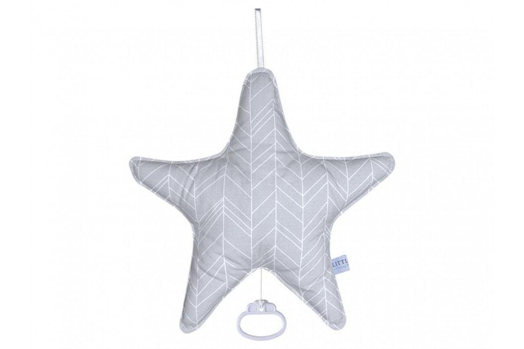 LITTLE DUTCH Grey Leaves Spieluhr Stern , 5235 Babyspielzeug