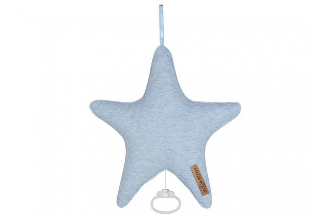 LITTLE DUTCH Blue Melange Spieluhr Stern , 5227 Babyspielzeug