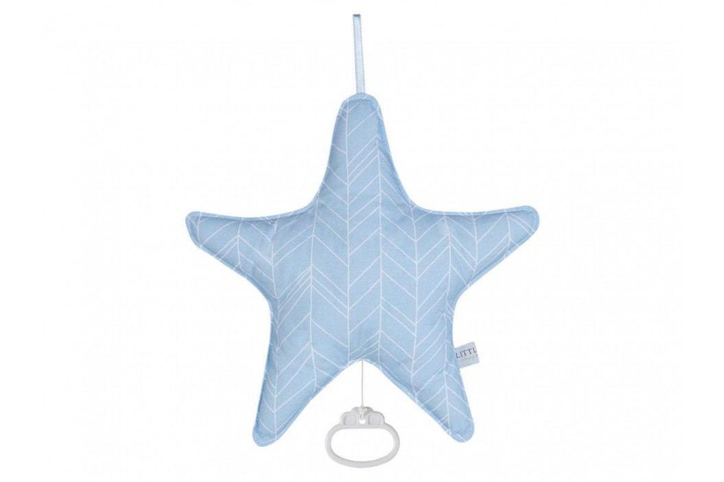 LITTLE DUTCH Blue Leaves Spieluhr Stern , 5226 Babyspielzeug