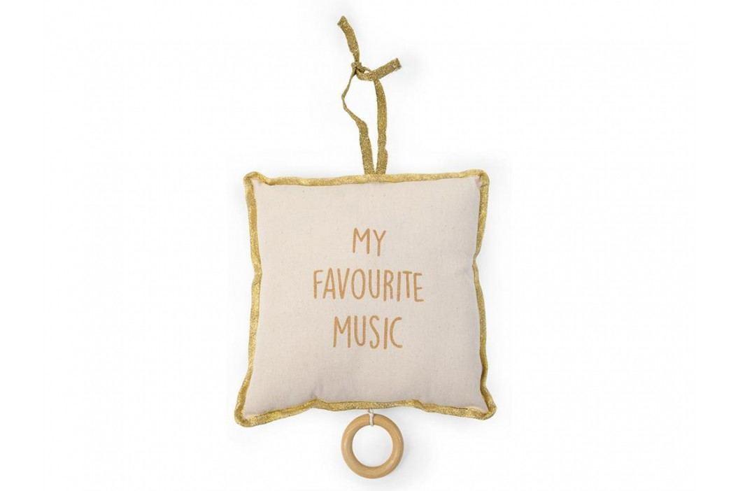 CHILDHOME Spieluhr My Favourite Music Weiß Gold Brahms Lullaby CHCMPG Babyspielzeug