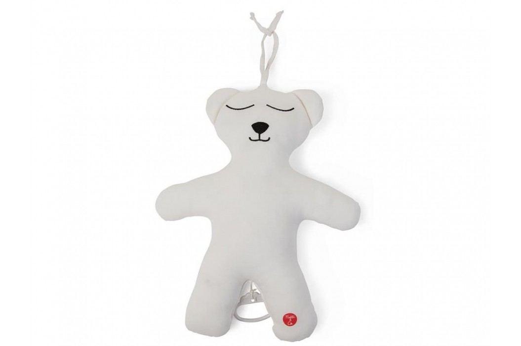 CHILDHOME Teddybär Spieluhr Jersey Weiß Brahms Lullaby CCTBMJW Babyspielzeug