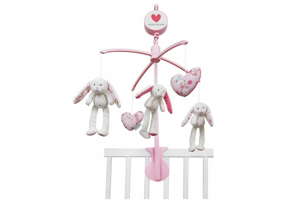 LITTLE DUTCH Pink Blossom Musik Mobile Hase , 4310 Babyspielzeug