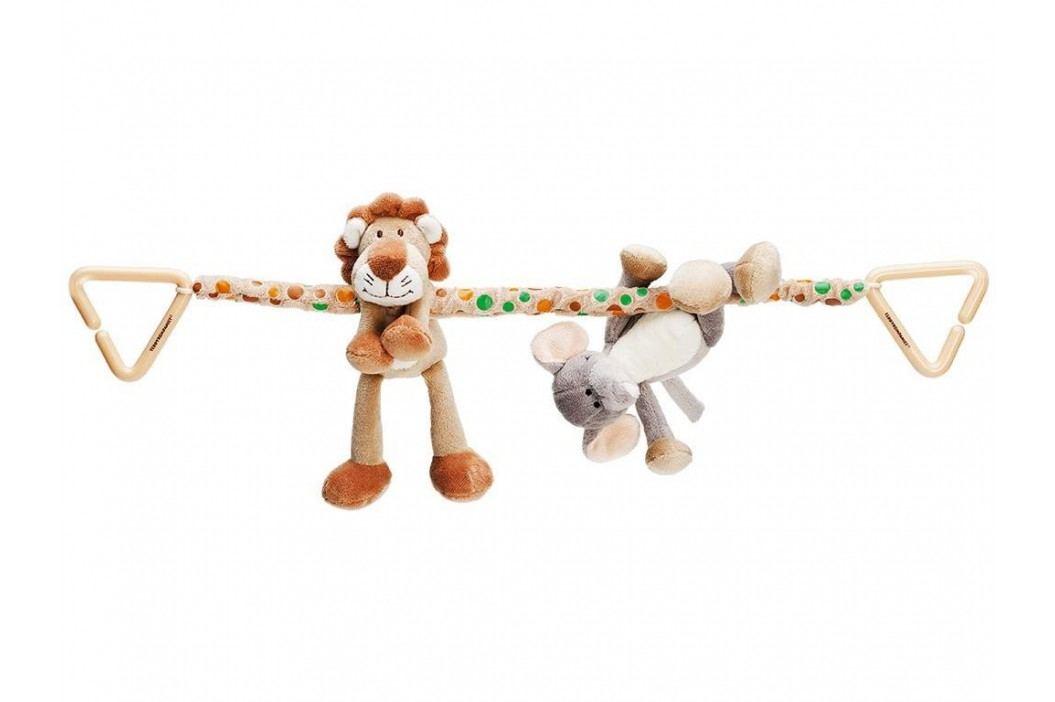 TEDDYKOMPANIET® Diinglisar Wild Kinderwagenkette Löwe & Elefant 452063 Kinderwagenspielzeug