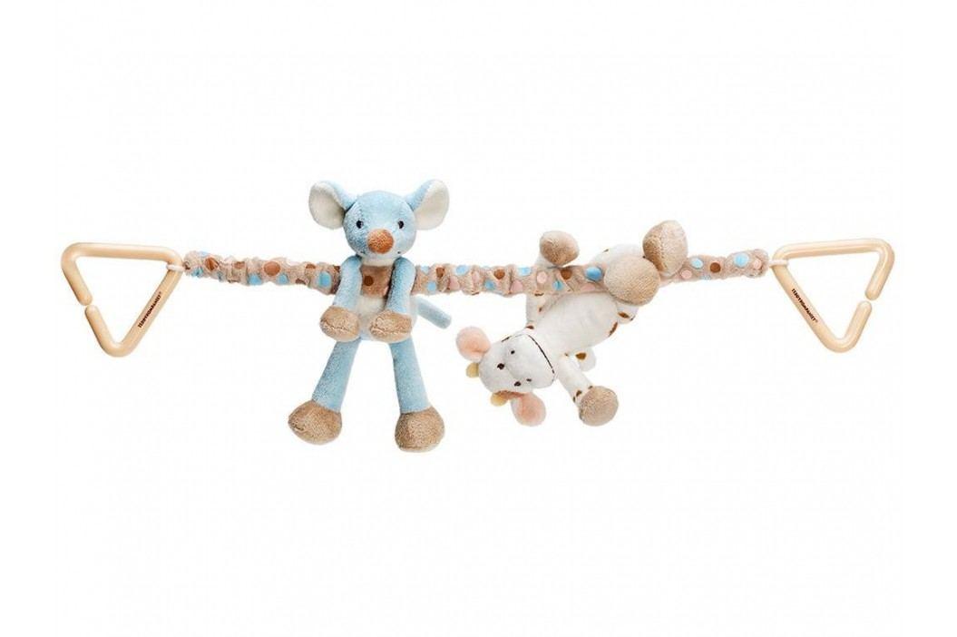 TEDDYKOMPANIET® Diinglisar Kinderwagenkette Kuh & Maus 452061 Kinderwagenspielzeug