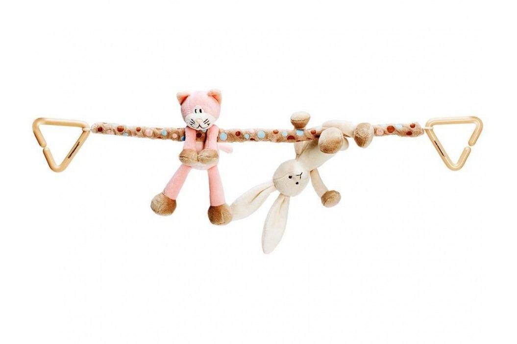 TEDDYKOMPANIET® Diinglisar Kinderwagenkette Katze & Hase 452060 Kinderwagenspielzeug