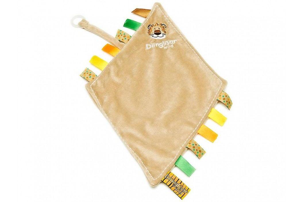 TEDDYKOMPANIET® Diinglisar Wild Schmusetuch mit Schnullerhalter Löwe 452306 Spielzeug