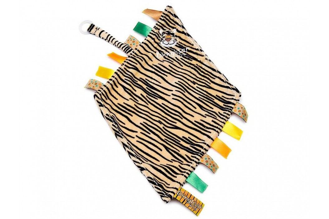 TEDDYKOMPANIET® Diinglisar Wild Schmusetuch mit Schnullerhalter Tiger 452305 Spielzeug