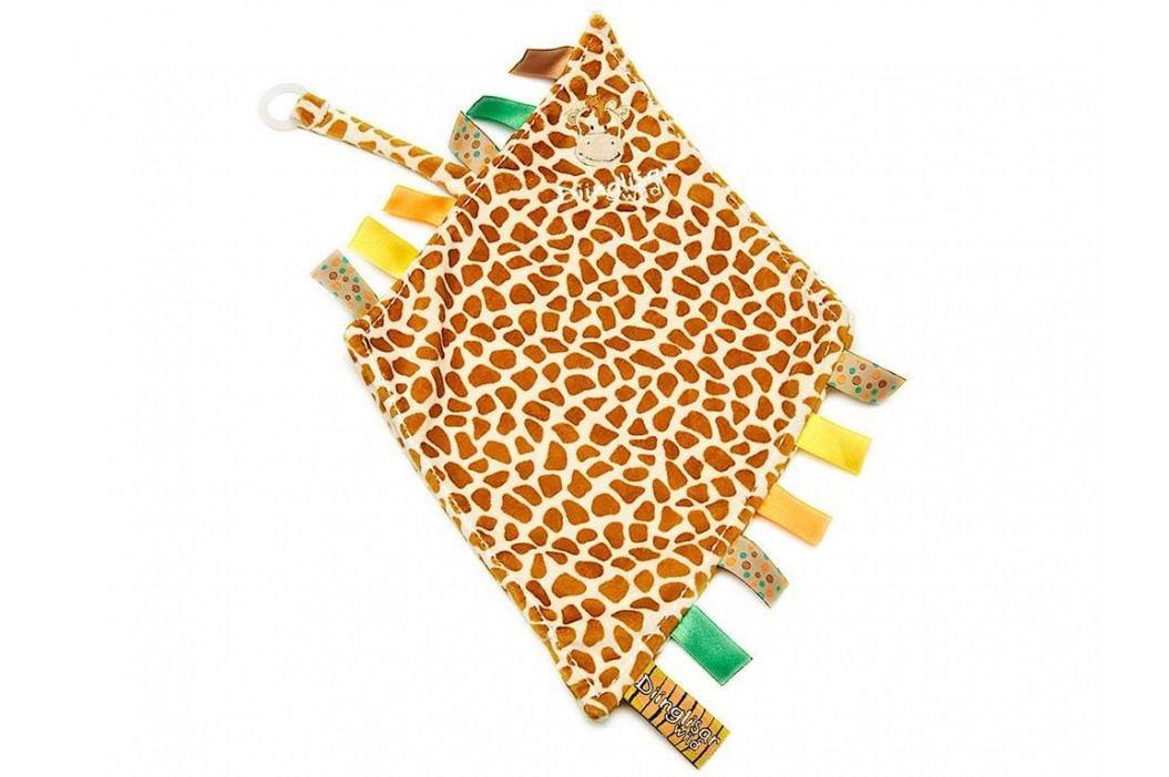 TEDDYKOMPANIET® Diinglisar Wild Schmusetuch mit Schnullerhalter Giraffe 452304 Spielzeug