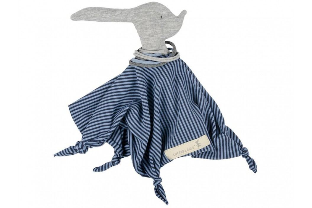 LOTTAS LABLE® Jersey Schmusetuch TARU Blau 40x40cm 4847-23 Spielzeug