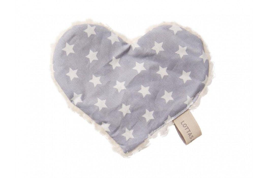 LOTTAS LABLE® Knistertuch Herz Linda Lou Star Grau 4601-55 Spielzeug