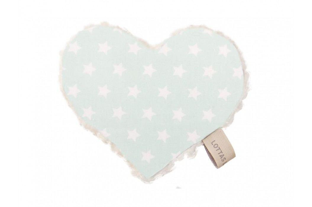 LOTTAS LABLE® Knistertuch Herz Linda Lou Star Mint 4601-51 Spielzeug