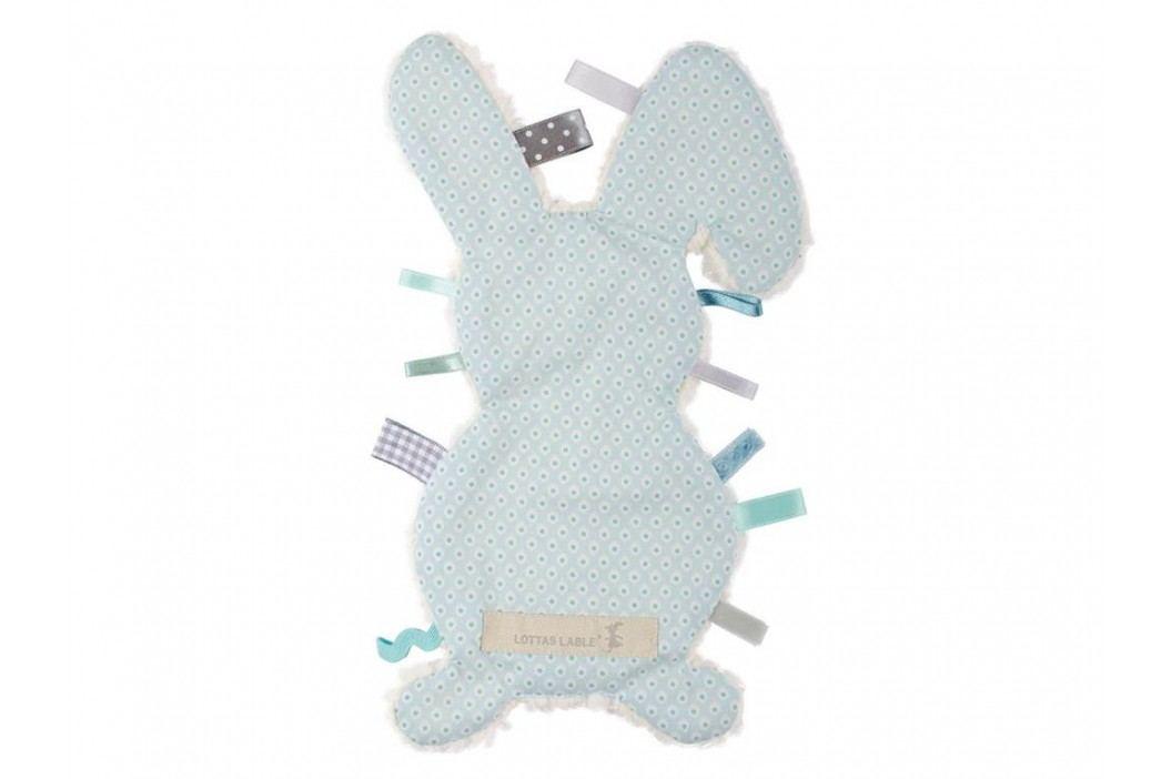 LOTTAS LABLE® Fühltuch Hase Pijaka Hellblau/Mint 4017-6 Spielzeug
