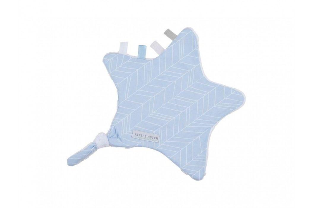 LITTLE DUTCH Blue Leaves Kuscheltuch Stern , 6326 Spielzeug