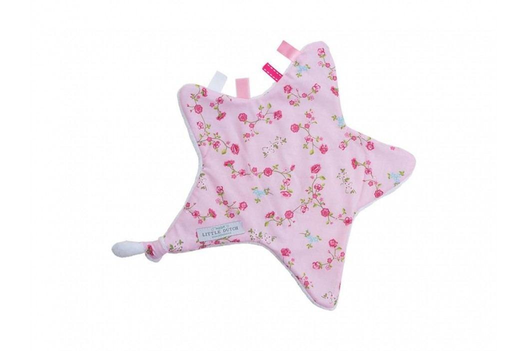 LITTLE DUTCH Pink Blossom Kuscheltuch Stern , 6301 Spielzeug
